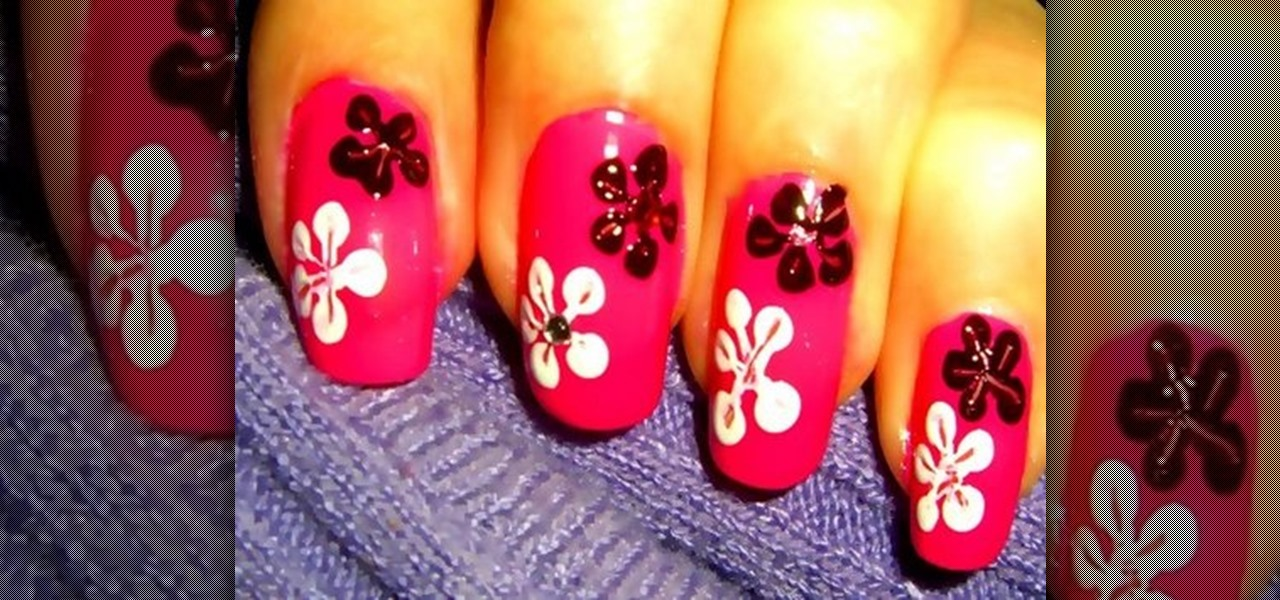 How To Create Nail Flowers For Nail Art Designs Nails Manicure