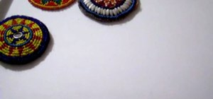 Create beautiful beaded hair medallions