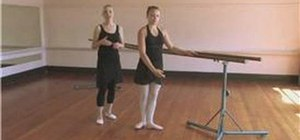Warm up with ballet barre exercises
