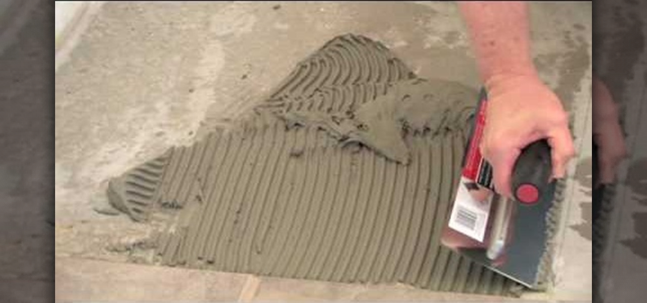 How to Install ceramic tile on concrete using thinset mortar ...