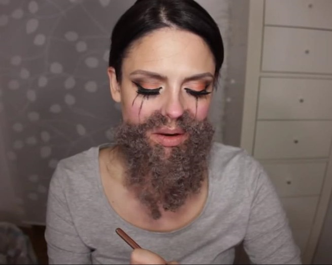 Bearded Lady Makeup fx