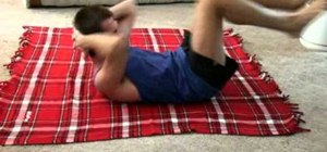 Tone and strengthen abdominal muscles with bicycle crunches