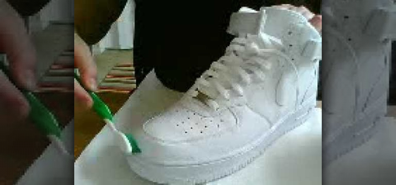 cf9cfdeccbe How to Clean a pair of white Nike Air Force Ones « Housekeeping     WonderHowTo