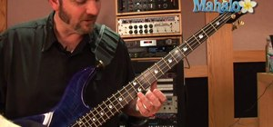 Fret and play a G note on a bass guitar