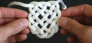 Tie the decorative Panel Knot