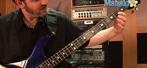 Fret and play a C note on the bass guitar