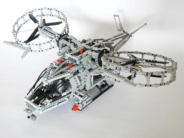 Motorized LEGO Avatar Helicopter is Badass Na'Vi Killer