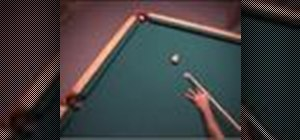 Make the cue ball stop after it hits the object ball