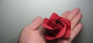 Fold a kawasaki origami rose variation