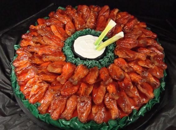 Chicken Wing Birthday Cake