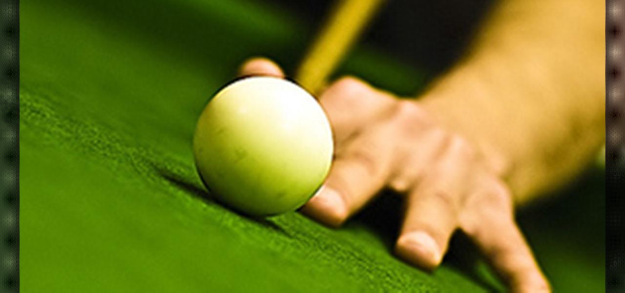 How to Do the running rail pool shot « Billiards & Pool :: WonderHowTo