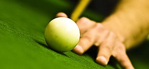 Shoot a bank hustle shot in pool