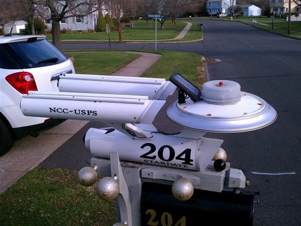 DIY Star Trek Mailbox Made with PVC