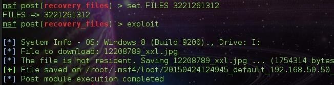SPLOIT: Forensics with Metasploit ~ ( Recovering Deleted Files )