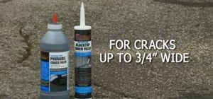 Fix bothersome cracks in driveways with QPR's Pavement Crack Filler