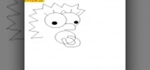 Draw Maggie Simpson in Paint or Illustrator