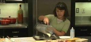 Make a popover balloon dessert - kids can cook!