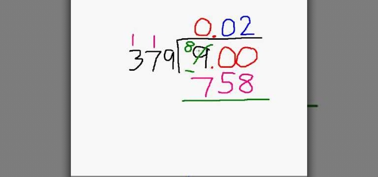 How To Divide Small Numbers By Big Numbers 171 Math