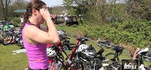 Transition between swim and bike in a triathlon