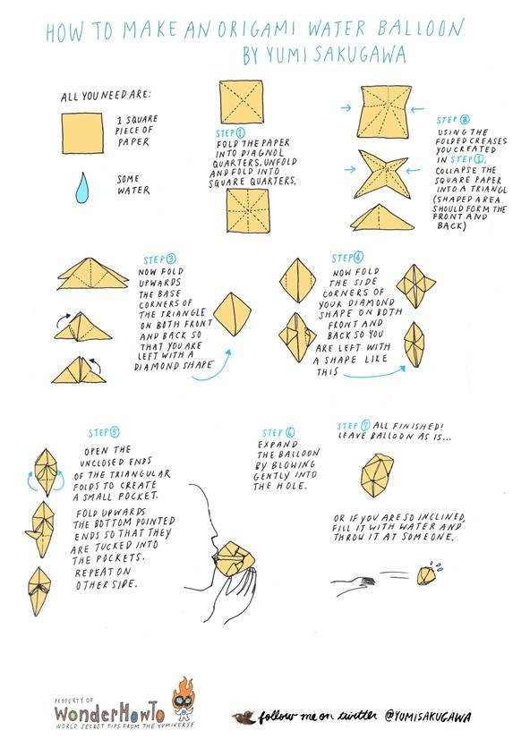 How to Make an Origami Water Balloon « The Secret Yumiverse - photo#28