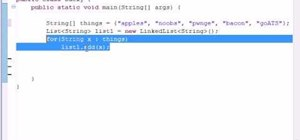 Create a LinkedList for Java programming