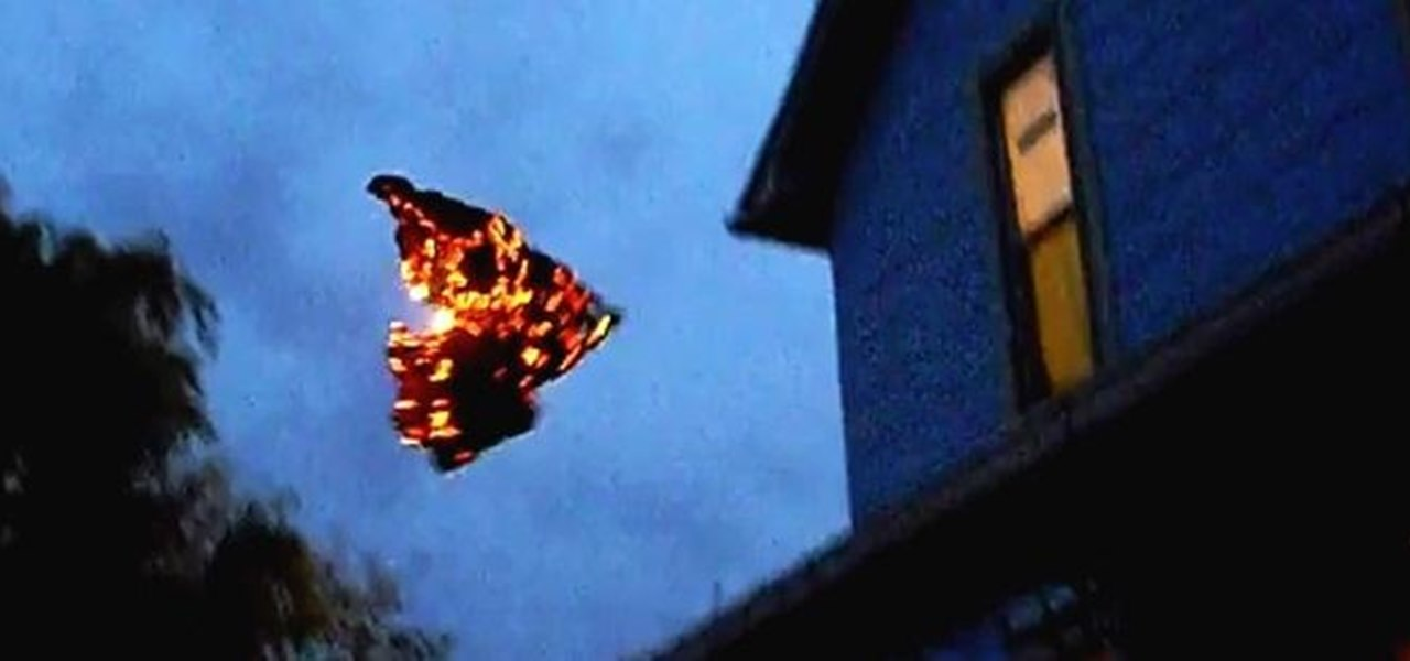 Light Up the Night Sky with Your Own Burning 'Cincinnati Fire Kite' That Flies by Itself