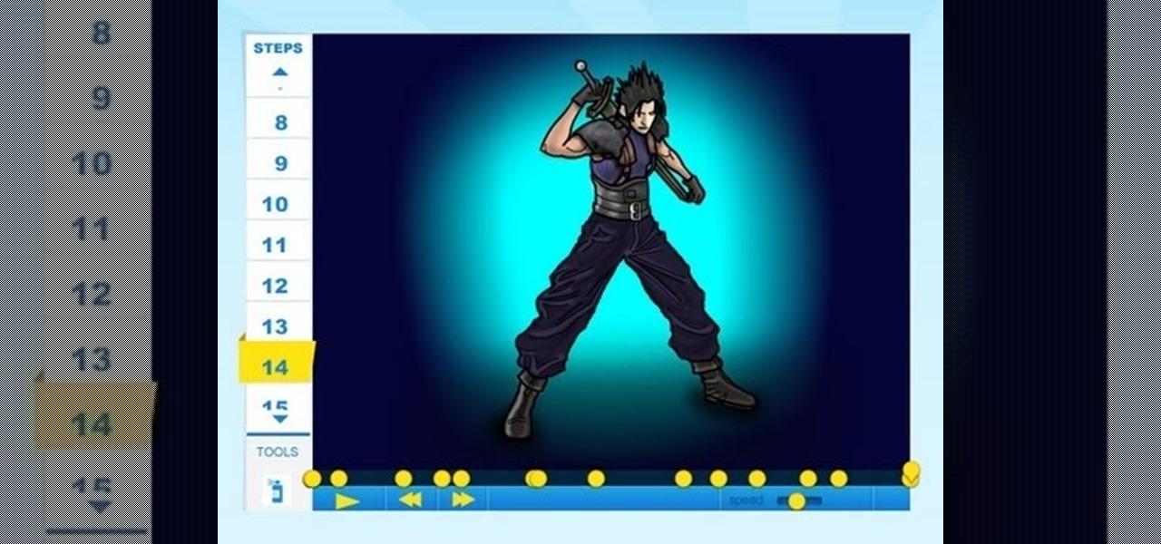 Draw Zack Fair of Final Fantasy