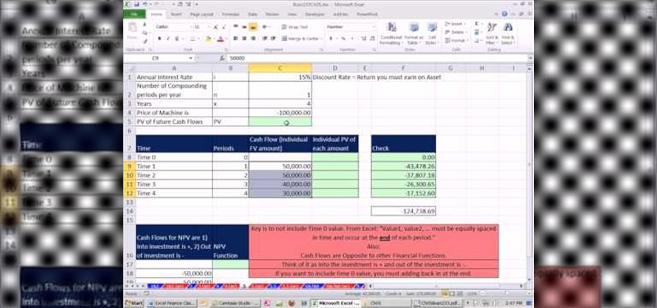 discounted cash flow excel
