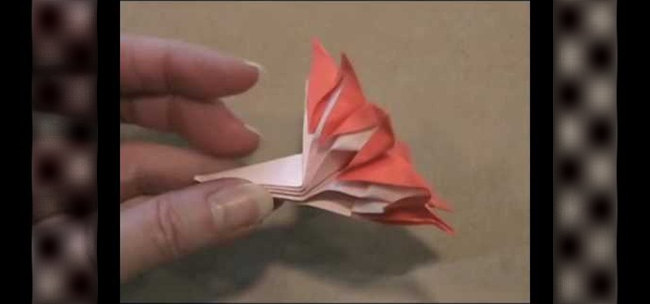 how to make an 8petal flower from folded paper with