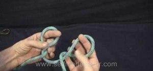 Tie a Spanish Bowline knot