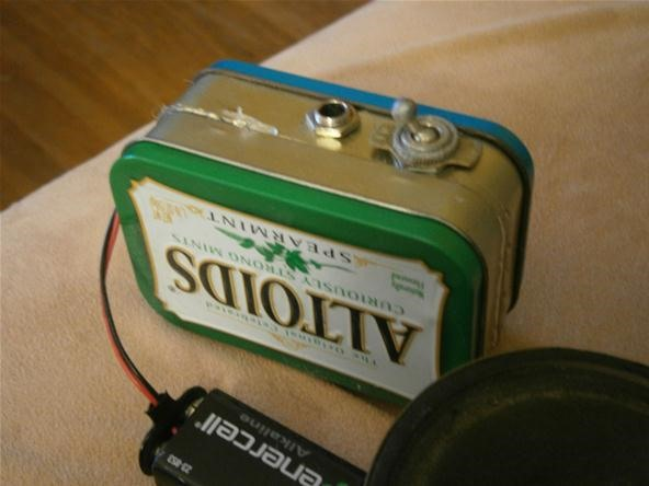 how to build your own mini altoids guitar amp for about 5 mad science. Black Bedroom Furniture Sets. Home Design Ideas