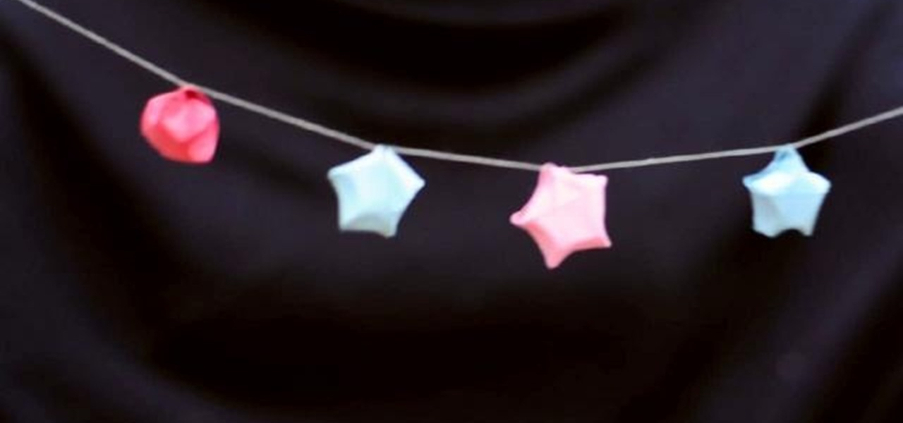 how to make a christmas garland out of recycled paper stars