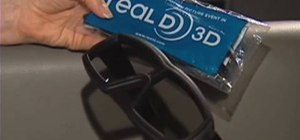 Clean 3-D glasses in the movie theater
