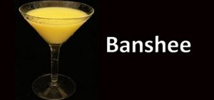 Make a Banshee cocktail