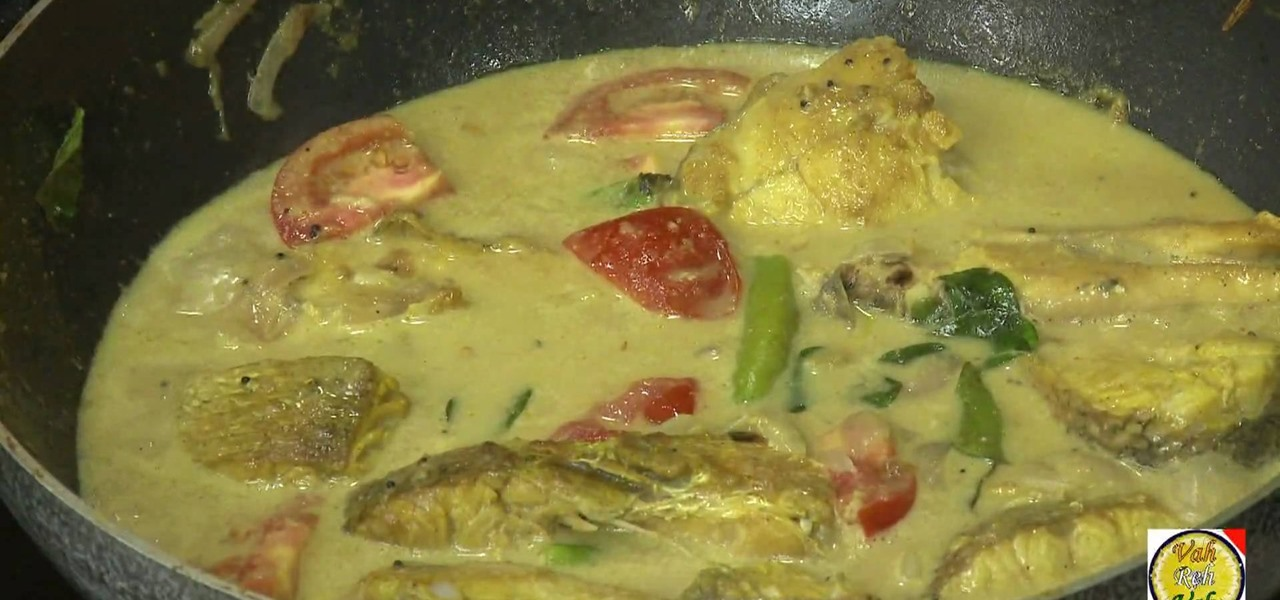 How to make fish moilee kerala style fish wonderhowto for How to make fish