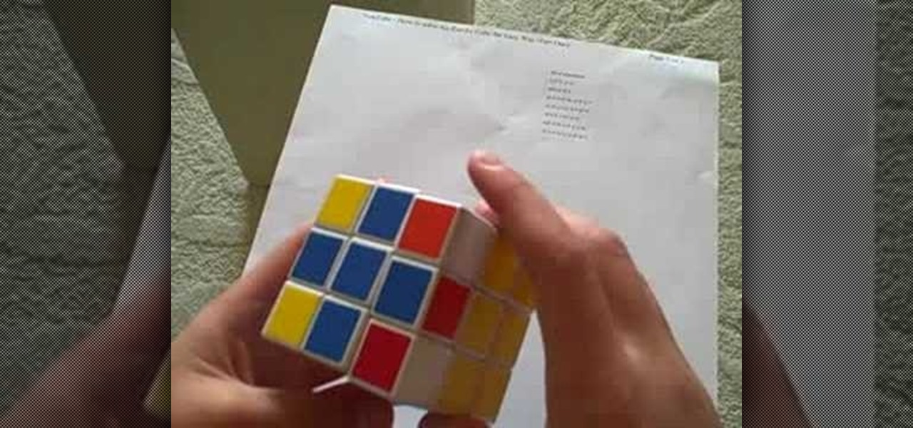 how to solve rubiks cube easy