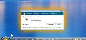 Disable the uac on Windows Vista