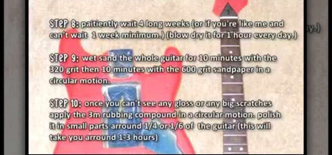 how to paint the body of a guitar painting tips. Black Bedroom Furniture Sets. Home Design Ideas