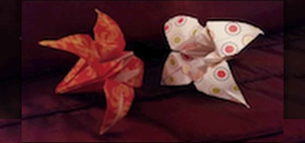 Make a Simple Origami Lily Flower