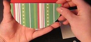 Craft a festive ornament gift card holder
