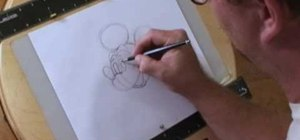 Draw Walt Disney character, Mickey Mouse
