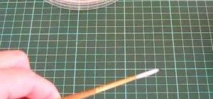 Make a tiny fondant ladybug