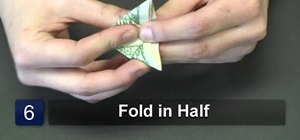 Fold an origami butterfly with a dollar bill