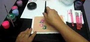 Paint flowers using Style Stix