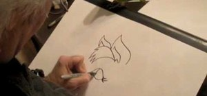Draw a cartoon horse's head