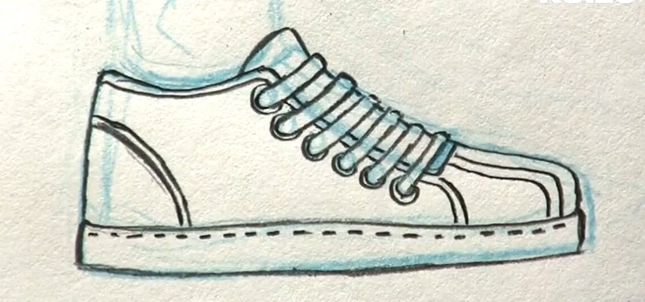 How To Draw A Simple Adidas Shoes