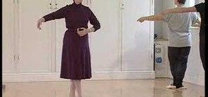 """Perform a """"battement tendu"""" in ballet"""