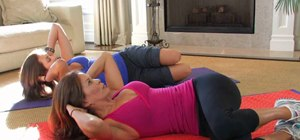 Do an 8 minute ab workout with Brooke Burke