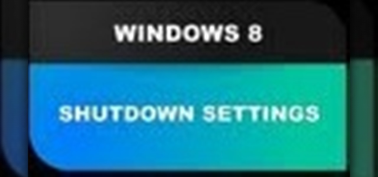 Windows 8 Shutdown Settings - Hibernate, Sleep, Restart and More