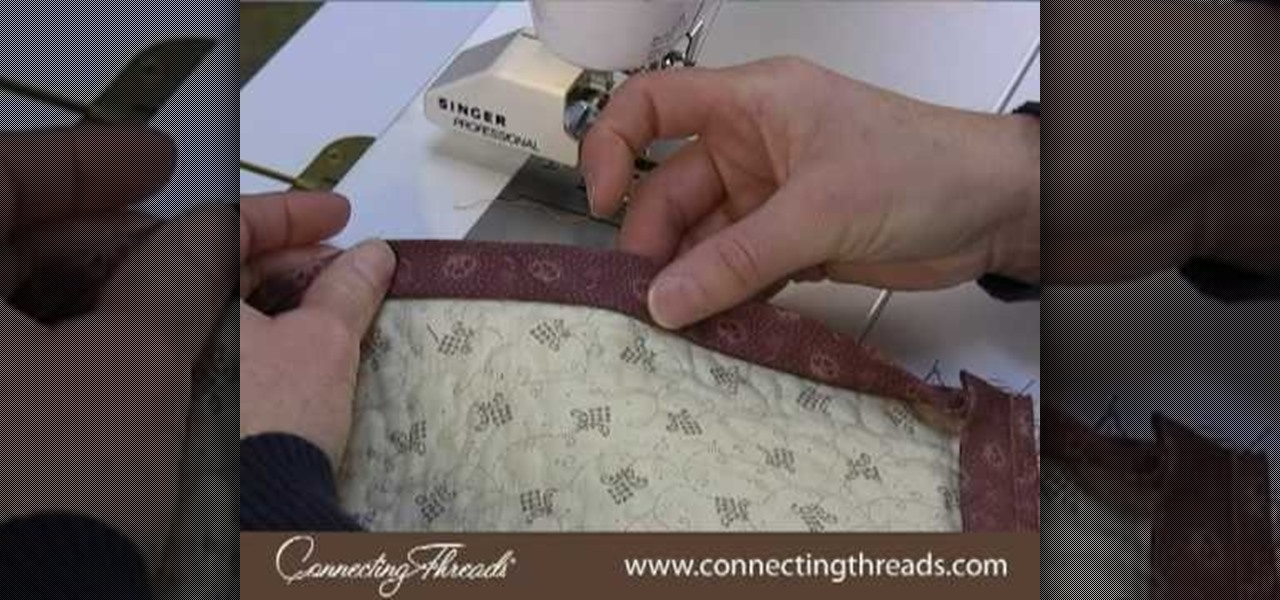How to Bind a quilt without bumps Â« Quilting :: WonderHowTo : quilting without a sewing machine - Adamdwight.com